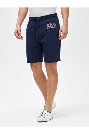 GAP Modré pánské kraťasy Logo mini arch shorts