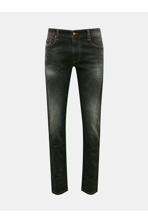 Diesel Černé pánské straight fit džíny
