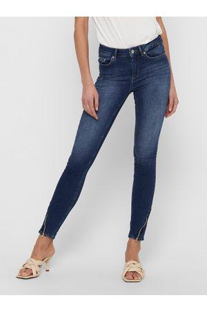 ONLY Modré skinny fit džíny