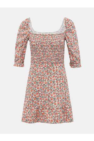 Miss Selfridge Růžové květované šaty