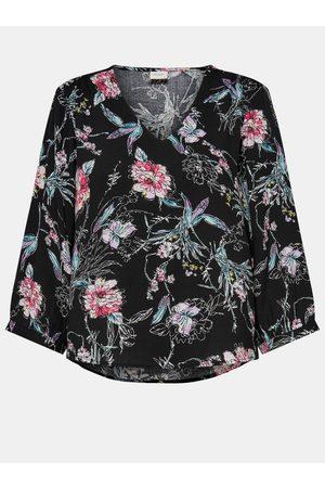 JACQUELINE DE YONG Černá květovaná volná halenka Ross