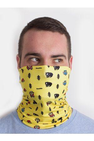 Fusakle Žlutý vzorovaný šátek 3v1