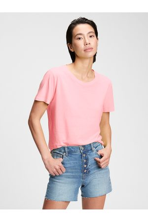 GAP Růžové dámské tričko organic vintage