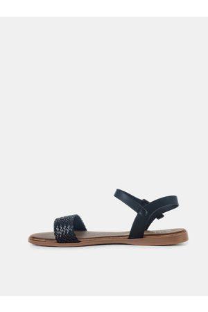 MUSK Černé dámské sandály