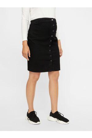 Mama Licious Černá těhotenská džínová sukně