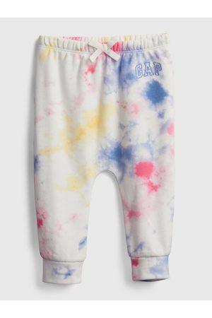 GAP Barevné holčičí baby tepláky Logo tie-dye pull-on pants