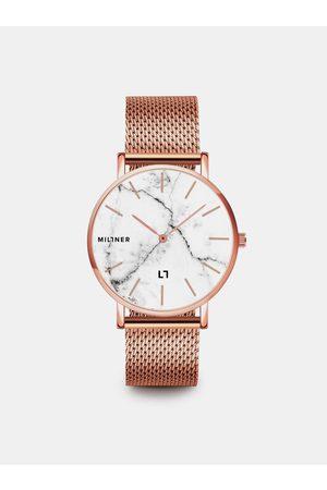 Millner Dámské hodinky s nerezovým páskem v růžovozlaté barvě Camden