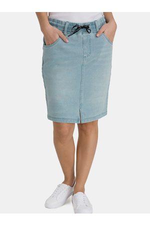 sam 73 Dámská pouzdrová džínová sukně
