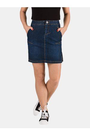 sam 73 Dámská džínová pouzdrová sukně