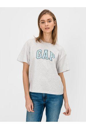 GAP Šedé dámské tričko Logo