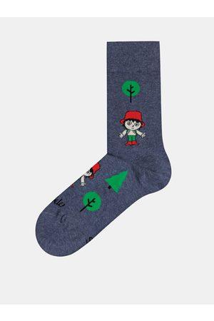 Fusakle Tmavě modré vzorované ponožky Rumcajz
