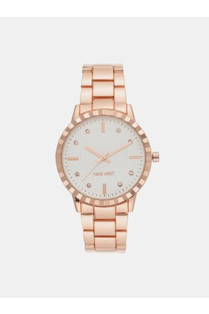 Nine West Dámské hodinky s kovovým páskem v růžovozlaté barvě