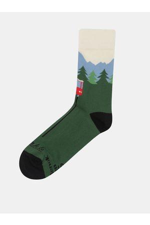 Fusakle Zelené unisex ponožky s motivem Tater Hrebienok