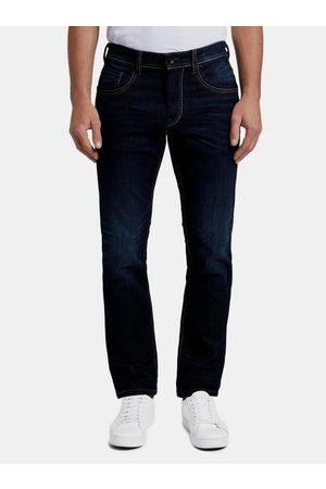 TOM TAILOR Tmavě modré pánské straight fit džíny
