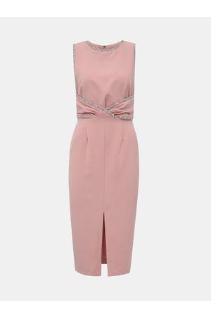 Paper Dolls Růžové pouzdrové šaty