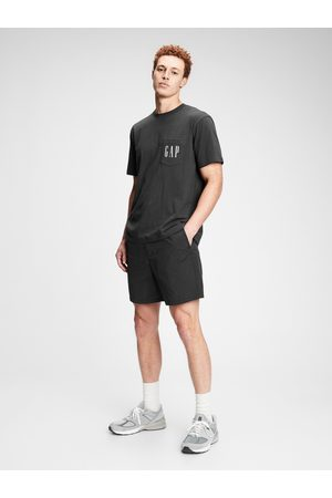 GAP Černé pánské tričko Logo crp pkt