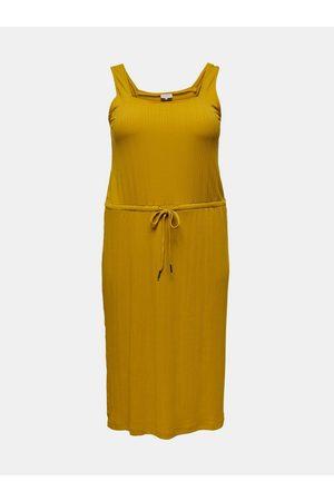 Carmakoma Hořčicové šaty Sophia