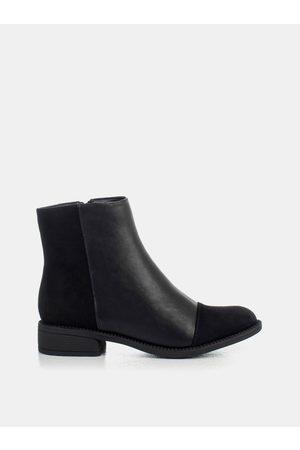 MUSK Černé dámské kotníkové boty