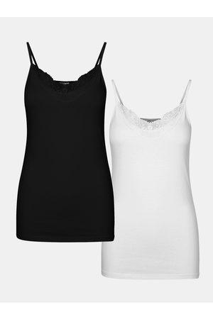 VERO MODA Sada dvou tílek v černé a bílé barvě Inge