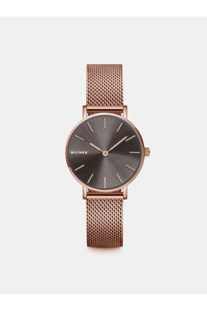 Millner Dámské hodinky s nerezovým páskem v růžovozlaté barvě Mini