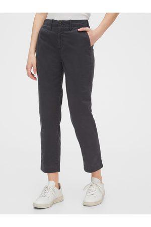 GAP Ženy Rovné nohavice - Černé dámské kalhoty straight khakis