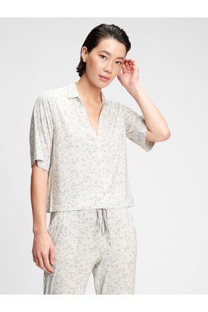 GAP Dámská košile na spaní truesleep button-front top in modal