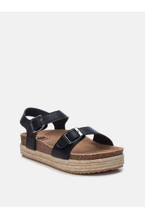Xti Černé dámské sandály na platformě