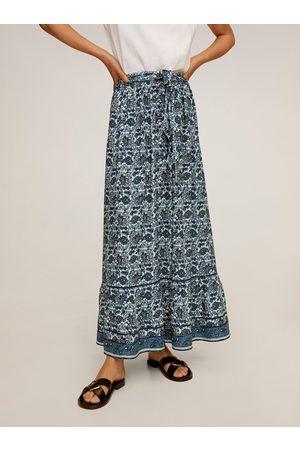 MANGO Vzorovaná maxi sukně