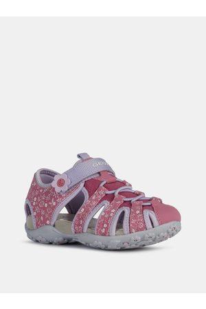Geox Růžové holčičí vzorované kožené sandály