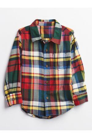 GAP Chlapci Košile - Zeleno- kostkovaná klučičí košile