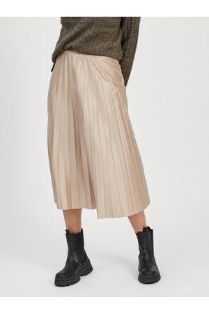 VILA Plisovaná midi sukně