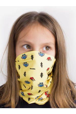 Fusakle Žlutý dětský vzorovaný šátek 3v1