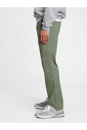 GAP Zelené pánské kalhoty modern khakis in straight fit with Flex