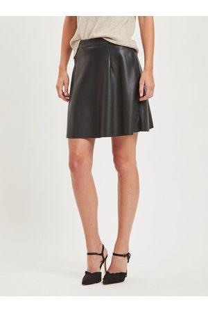 VILA Černá koženková sukně Pen