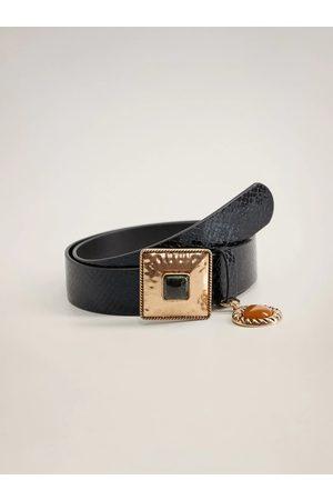 MANGO Černý pásek Piedra