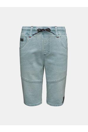 sam 73 Světle modré klučičí džínové kraťasy se zavazováním