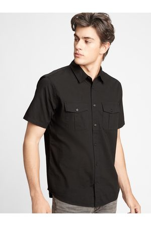 GAP Černá pánská košile short sleeve utility shirt