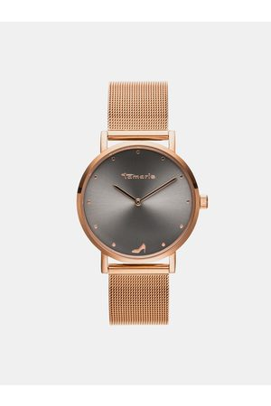 Tamaris Dámské hodinky s kovovým páskem ve zlaté barvě