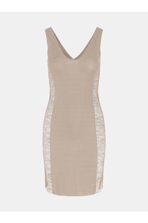 Pieces Krémové tvarující šaty Ella
