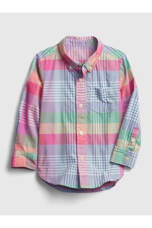 GAP Barevná klučičí dětská košile ls poplin pld