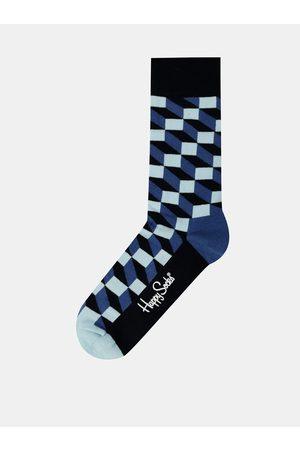 Happy Socks Modré pánské ponožky Filled Optic