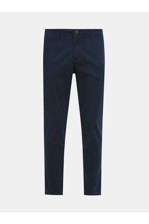 JACK & JONES Tmavě modré chino kalhoty Marco