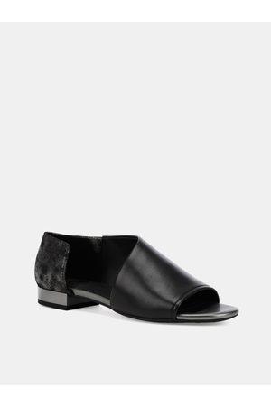 Geox Černé dámské kožené sandály Wistrey