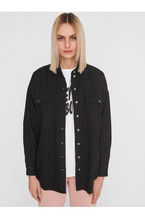 Noisy May Černá džínová košile Flanny