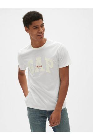 GAP Bílé pánské tričko Logo