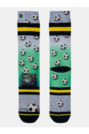 Xpooos Zeleno-šedé pánské ponožky