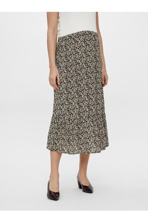 Mama Licious Černá květovaná těhotenská midi sukně Phina