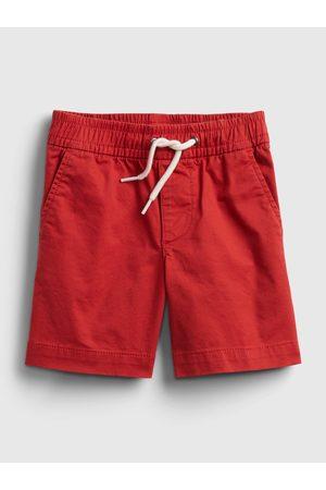 GAP Červené klučičí dětské kraťasy poplin pull-on shorts