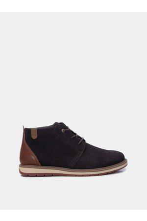 Xti Tmavě hnědé pánské semišové kotníkové boty