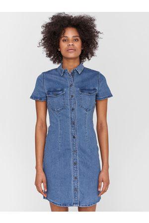 Noisy May Modré džínové košilové šaty Joy